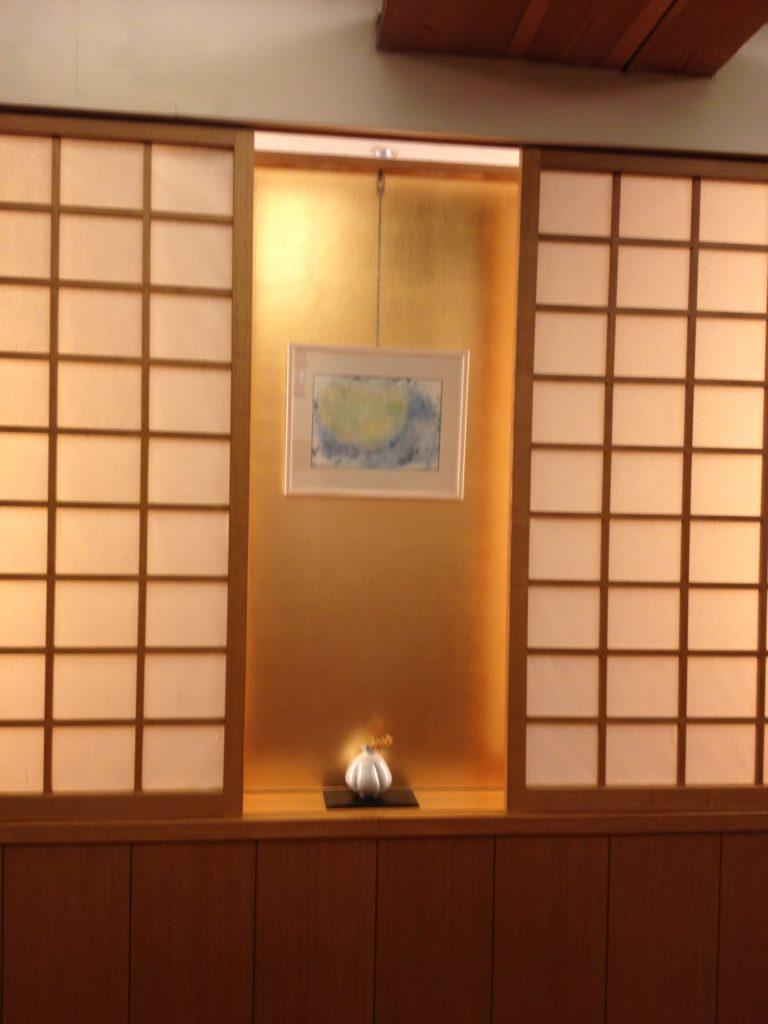 松崎カフェの展示様子
